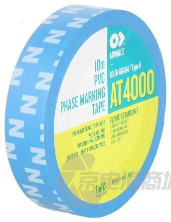 Advance Tapes AT4000 蓝色 PVC 电绝缘胶带 202935, 10000V击穿电压, 15m长 x 15mm宽 x 0.18mm厚