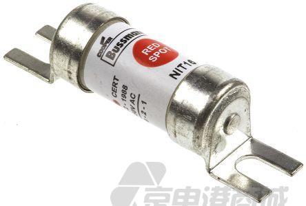 Cooper Bussmann 16A电流 T熔速 A1尺寸 gG、gM 英国标准熔断器 NIT16, BS 88-2:1988, IEC 60269-2标准, HRC 型, 550V ac