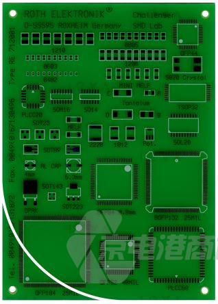 Roth Elektronik 单面 FR4 贴片焊接练习板 RE712001-LF, 85贴片元件, 多种类型封装, 100 x 140 x 1.5mm
