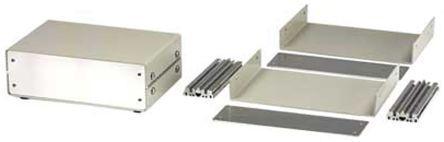 Hammond 1402 系列 天然色 铝制 工程盒 1402B, 175.97 x 117.48 x 55.04mm