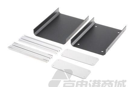 METCASE Unicase 系列 黑色 铝制 工程盒 M5511119, 130 x 180 x 50mm