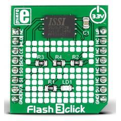 MikroElektronika Flash 3 click ISSI IS25LP128 串行闪存 开发板 MIKROE-2374, 使用于 mikroBUS