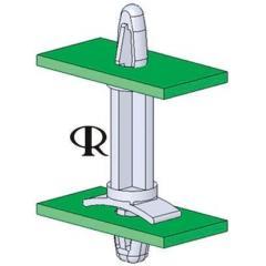 Richco LCBS-18-01 28.6mm高 尼龙 锁定 印刷电路板支撑柱, 适用于4mm PCB孔和4.75mm机箱孔