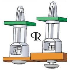 Richco 19.1mm高 尼龙 咬合铆钉支座 4979874005298, 用于4mm PCB 孔, 适用于达1.6mm厚 PCB